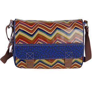 FOSSIL Handtasche KEY-PER MESSENGER Schultertasche Umhängetasche Überschlagtasche Stripe