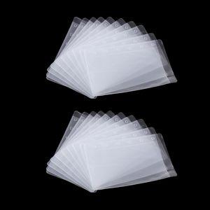 20x A7 Prospekthüllen Klarsichthüllen, Glasklar, 6-Löchern