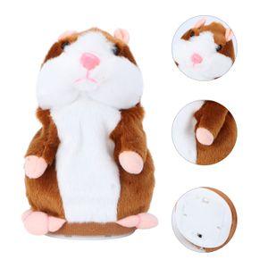 TOYMYTOY Talking Hamster Lustiges Plüschtier wiederholt, was Sie sagen Mimikry-Haustierspielzeug Elektronische Aufzeichnung Stofftier Interaktives Spielzeug für Kinder Frühes Lerngeschenk (Hellbraun)