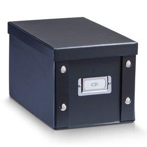 Zeller CD-box, Pappe, schwarz 16,5x28x15