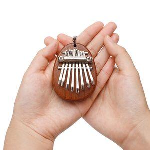 1 Stück 8 Schlüssel Kalimba,1 Stück Lanyard Oval Holz + andere Daumen Klavier 8 Tasten Mini Kalimba