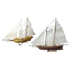 1/130 1/120  DIY Holz 3D Schiff Segelboot Schiffmodell Modellbausatz Holzmodellbau Puzzle