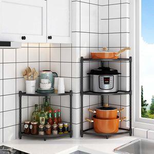 Edelstahl Eckregal Duschregal Badregal Küche Regal  höhenverstellbar 2 Ablage