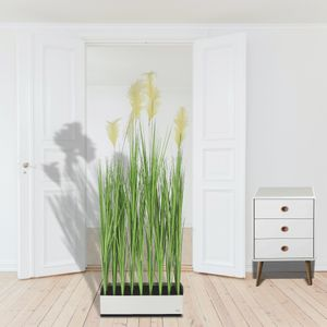 Dekogras Raumteiler Kunstgras Pampagras auf Metallfuß