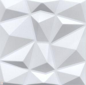 3D Wandpaneele Wandverkleidung Deckenpaneele Platten Paneele Diamant Weiß Polystyrol XPS (0,25qm)