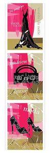 Fashion Poster Triptychon Vogue Fashion Moda - Langbahnposter
