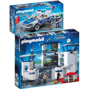 PLAYMOBIL 6872 6873 City Action 2er Set Polizei-Ko