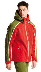 dare2b Herren Ski Jacke Skijacke IMMENSITY II JACKET rot / grün, Größe:XL