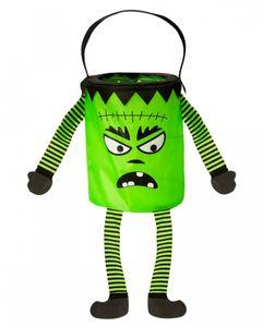 Halloween Beutel mit Monster als Motiv - Halloween Betteltasche