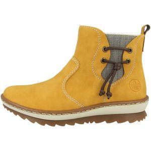 Rieker Damen Chelsea Boots Warmfutter Stiefeletten Z8691-68, Größe:37 EU, Farbe:Gelb