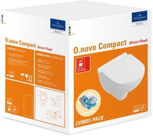 Villeroy & Boch Combi-Pack O.NOVO inkl. Wand-WC tief DirectFlush und WC-Sitz weiß