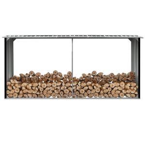 Mllaid Brennholzlager Verzinkter Stahl 330 x 92 x 153 cm Anthrazit