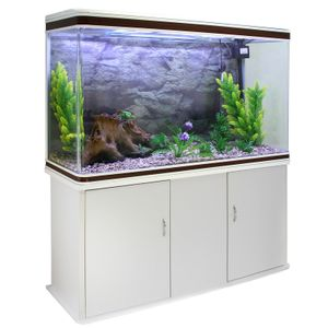 300L Aquarium Komplettset mit Unterschrank Weiss