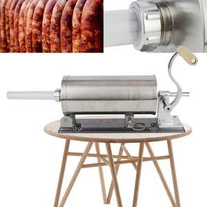 4,8L Edelstahl Wursthersteller,Wurstfüller manuell, Wurst Stuffer Fleischfüllmaschine Wurstmaschine Wurstfüller für den Heimgebrauch