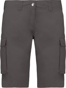 Kariban Damen Cargo-Shorts Bermuda K756 Light Charcoal (38)