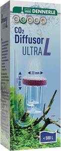 Dennerle CO2 Diffusor Ultra L   für Süßwasser-Aquarien bis 400 Liter   aus Acrylglas - mit integriertem Blasenzähler   Membran aus Spezial Sintermaterial