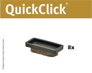 WAGNER QuickClick® Stuhlgleiter Woll-Filzgleiter ULTRASOFT - 8er-Set Ersatzgleiter Ø 32 x 15 mm, DE Ware - 15955100