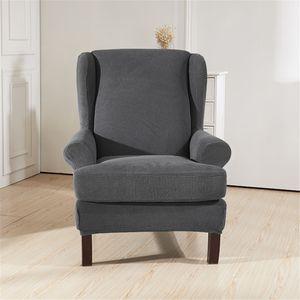 Sitzer Sofahusse Stretch Sofabezug Armlehnenschoner Sesselschoner Sesselbezug -Grau