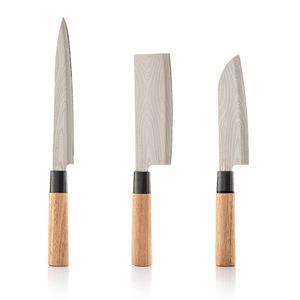 Japanische Messer Set Japan Küchenmesser Santoku Kochmesser Japanisches Klinge