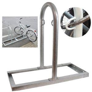 Fahrrad Anlehnbügel mit Bodenrahmen Fahrradständer 2 Fahrräder Anlehnständer Anlehnparker Reihenparker