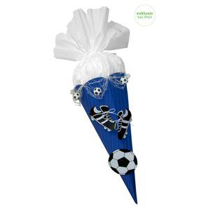 Schultüte Bastelset Fußball blau-weiß