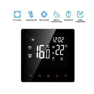 Thermostat Fußbodenheizung Smart Digitale Programmierbare  Temperaturregler 16A großem LCD Touchscreen, APP Steuerung Wöchentliche Zirkulation Programmierbare mit Internen Sensor und Bodensensor