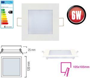 10x 6W LED Panel 120 x 120mm Einbaustrahler Spot Einbauleuchte Neutralweiß 350 Lumen Deckenleuchte Eckig