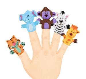 Sunflex Fingerpuppen Zootiere   Fingertier Handpuppen Motorik Kinder Finger Zoo Tiere Fingerspiel