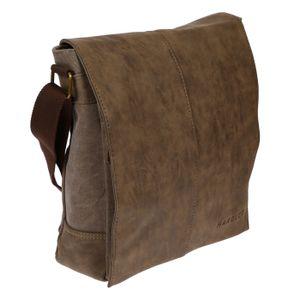 Umhängetasche Damen Herren Tasche Messenger Bag Schultertasche Canvas mit Überschlag