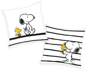 Peanuts Kissen Kuschelkissen Dekokissen mit Snoopy und Woodstock  40 x 40 cm, gefüllt