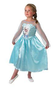 Rubies - Mädchen Elsa-Kostüm - klassischer Stil - L (7-8 Jahre)
