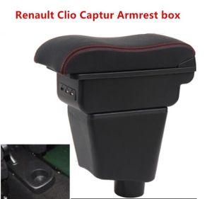 Mittelarmlehne Mittelkonsole Armlehne mit USB Steckdose Für Renault Clio Captur black