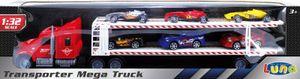 Luna Autotransporter 57cm LKW Lastwagen Mega Truck Rennwagen Autos Formel1 +3J