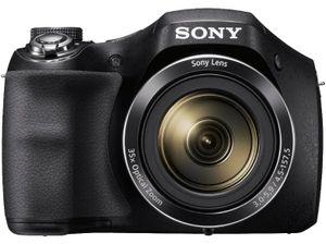 Sony Cyber-SHOT DSC-H300 20,1 Megapixel Kompaktkamera, 35-fach optischer/93-fach digitaler Zoom, 27 - 954 mm Brennweite, optischer Bildstabilisator, 1/2,3'' CCD-Sensor, 3 Zoll (7,62 cm) Display, HD-Video, Gesichts- und Lächelerkennung