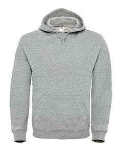 B & C Herren Hooded Sweatshirt Pullover Kapuzenpullover, Größe:4XL, Farbe:Heather Grey