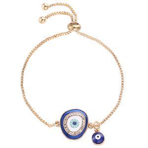 Armbänder, Verstellbare Armband Geschenk für paar Mutter Beste Freundin Weihnachten Muttertag Geburtstag -Blue
