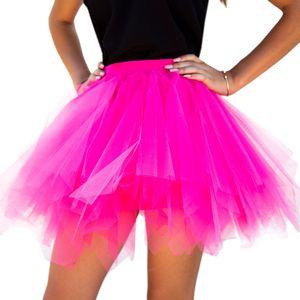 Oblique Unique Tutu Tütü Damen Rock pink Tüllrock Unterrock Kostüm Accessoire Fasching Karneval 80 cm - 144 cm