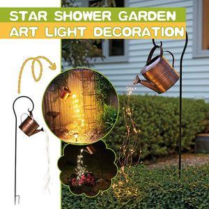 Garten Licht Stern Dusche Gießkannen Kunst Lichterketten Wegbeleuchtung Nachtlichter Wasserfall Lichter für Party, Zuhause, Garten