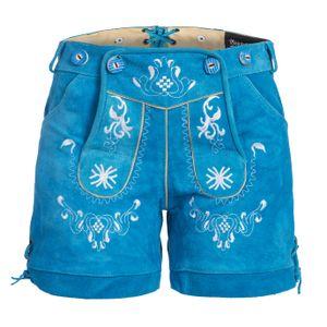 Damen Trachten Lederhose mit Trägern blau 40