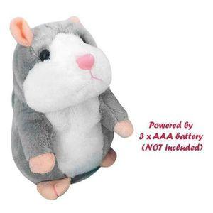 Sprechende Hamster Kuscheltier Plüschtier Spielzeug Talking Maus DJ Rap Toy DE