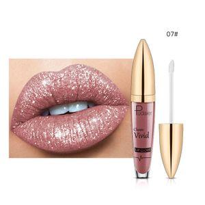 Diamond 18 Color Glitter Lipgloss Lippenstift Shiny Matte Liquid Lipstick 5ML LFY201117210G