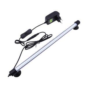 LED Aquarium Lampe Tank Unterwasser Leuchtet Aquarien Beleuchtung IP68 wasserdicht, Weiß, 38cm