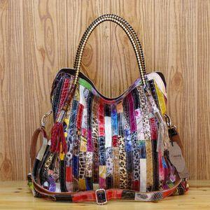Handtasche Serpentine Fashion Leder Damen Casual Large Capacity Handtasche