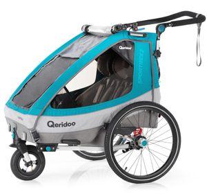 Qeridoo Sportrex2 Petrol Kinderanhänger