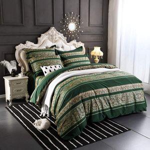 Europa Bettwäsche Dunkelgrün 135x200cm Bettbezüge Bohemian Boho Indischen Böhmisch Wendebettwäsche Set mit 80x80cm Kissenbezug