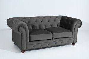 Max Winzer Orleans Sofa 2-Sitzer - Farbe: anthrazit - Maße: 196 cm x 100 cm x 77 cm; 2911-2100-2044214-F07