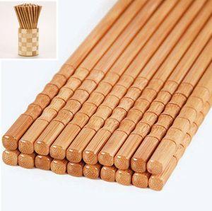 10 Paar (20) handgemachte Holz Essstäbchen Chopsticks Bambus wiederverwendbar