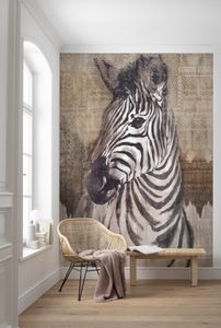"Komar Vlies Fototapete ""Zebra"" - Größe: 200 x 250 cm (Breite x Höhe), 4 Bahnen"