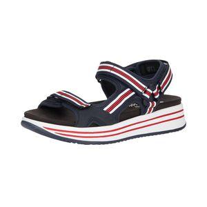 Remonte herausnehmbares Fußbett Damen Sandale in Blau, Größe 38