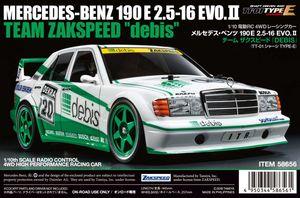 Tamiya 1:10 RC MB 190E debis Zakspeed TT-01E Car Kit Modell Mercedes Benz DTM